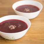 Beetroot and garlic soup