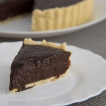 Hazelnut dark chocolate tart