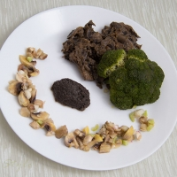 Broccoli with mushrooms 3 ways