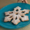 Snowflake cookies with cinnamon