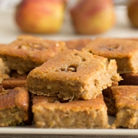 Apple bake tray with nuts