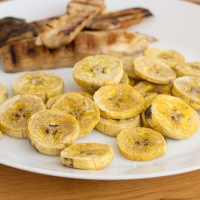 Plantain oven baked chips