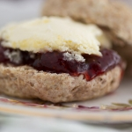 Strawberry Wholemeal Scones