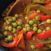 Peppers and Pea Stew