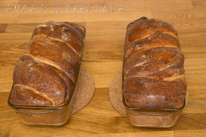 Cozonac loafs fresh out of the oven
