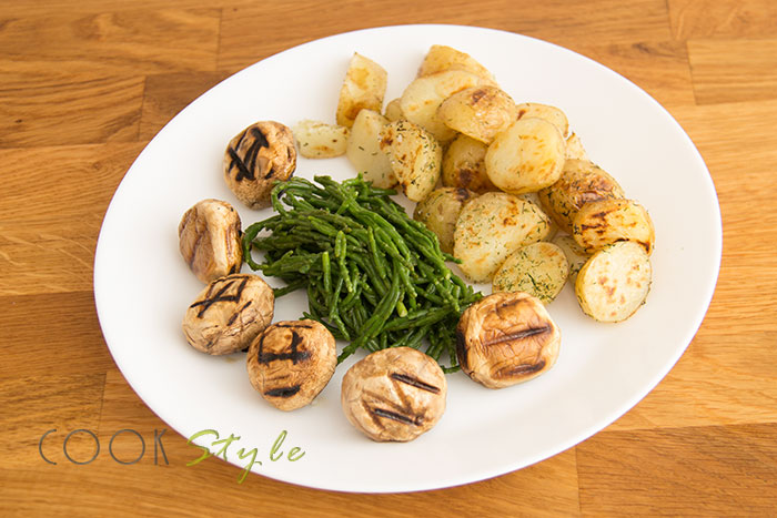 06 Samphire with potatoes and mushrooms