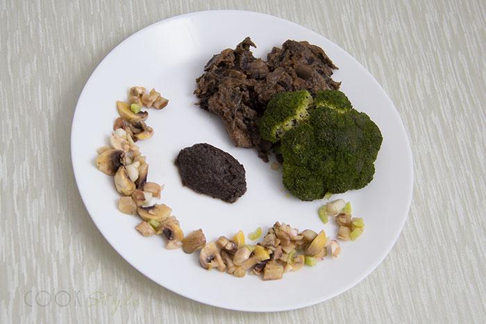 Broccoli with mushrooms 3 ways