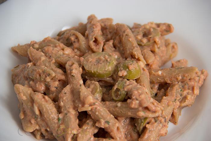01 Tomato and olives pasta recipe