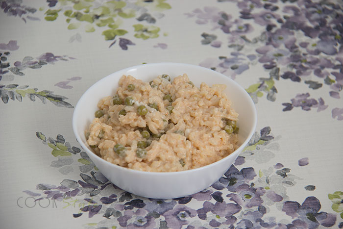 02 Smoked paprika and pea risotto