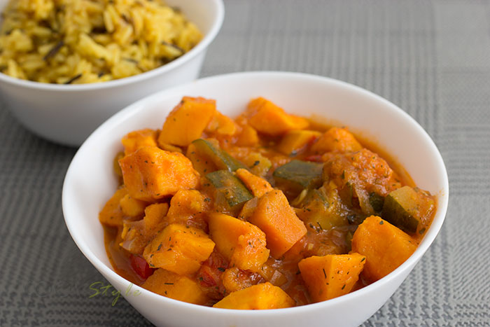 01 Sweet potato curry with wild rice
