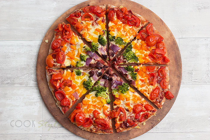 Rainbow Pizza Recipe — Dishmaps