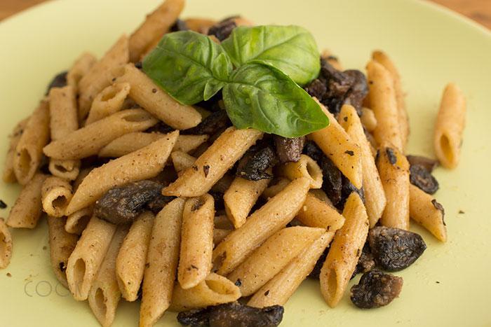 Vegan mushroom pasta recipe
