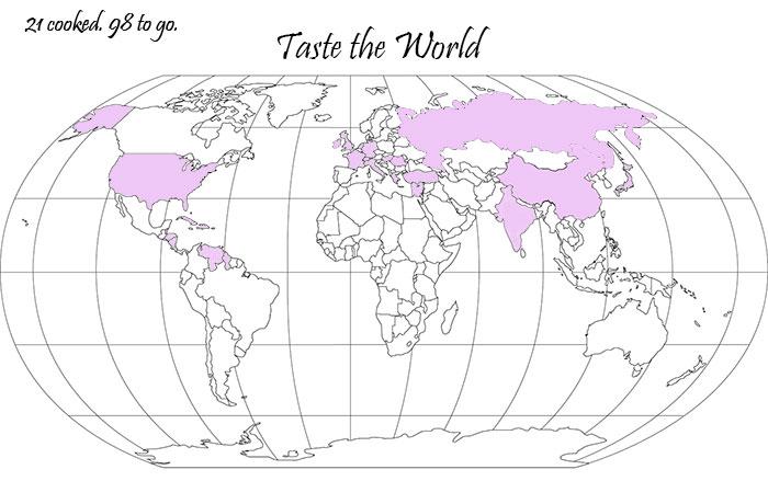 Taste the World, map