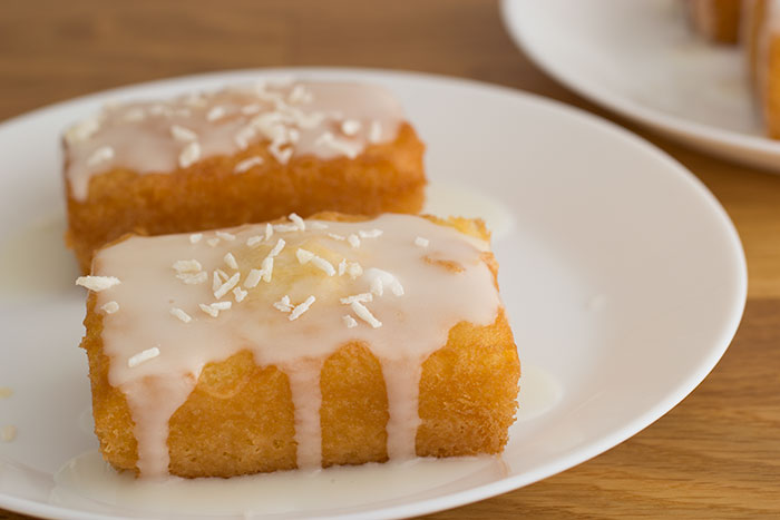Coconut and lemon drizzle cake