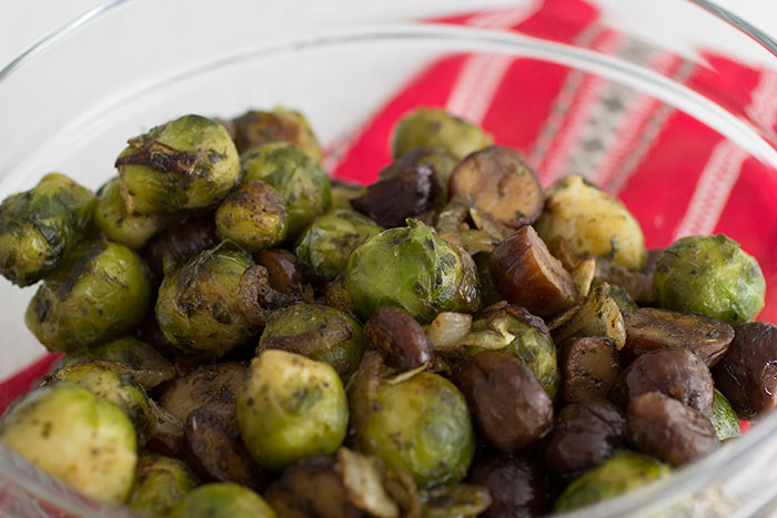 Chesnut and Brussel sprouts