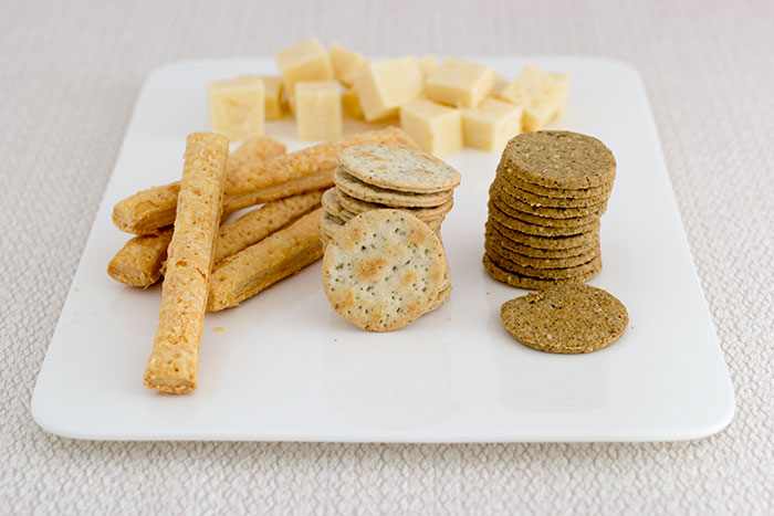 Cheese plate with biscuits from Stag Bakeries