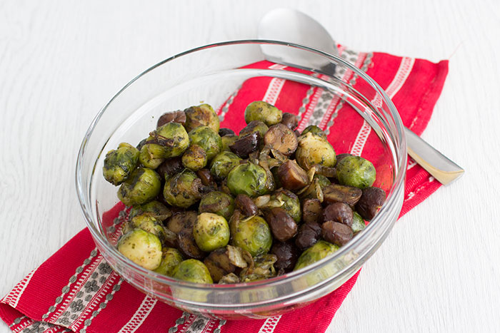 Vegan Chestnut and Brussels sprouts