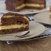 Dark chocolate and orange cake