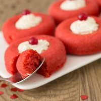 Red Valentine's Day Doughnuts