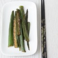 Okra with miso glaze