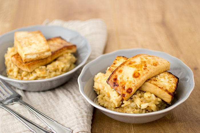 Vegan peanut butter risotto