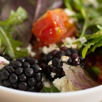 Roasted Tomatoes Blackberries Salad