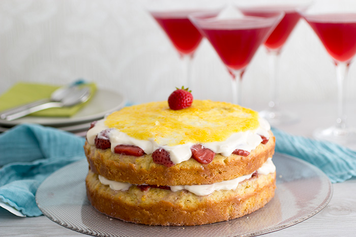 Orange and Strawberries Cake