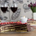 Tschumi's Chocolate Cake. Slice of cake