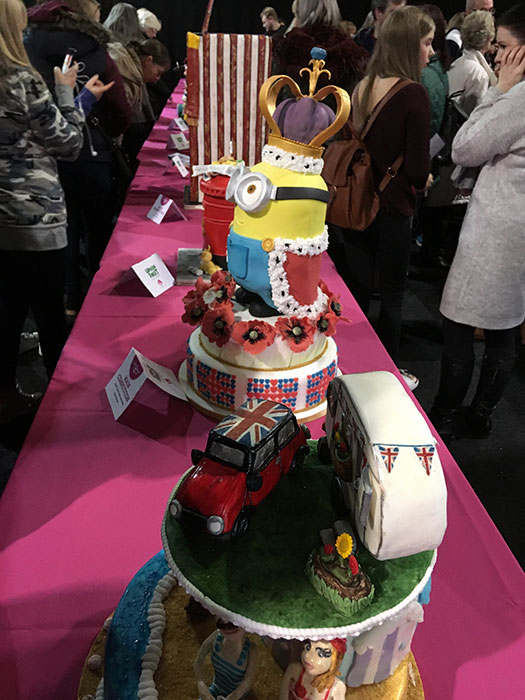 Cake judging at Cake and Bake Show