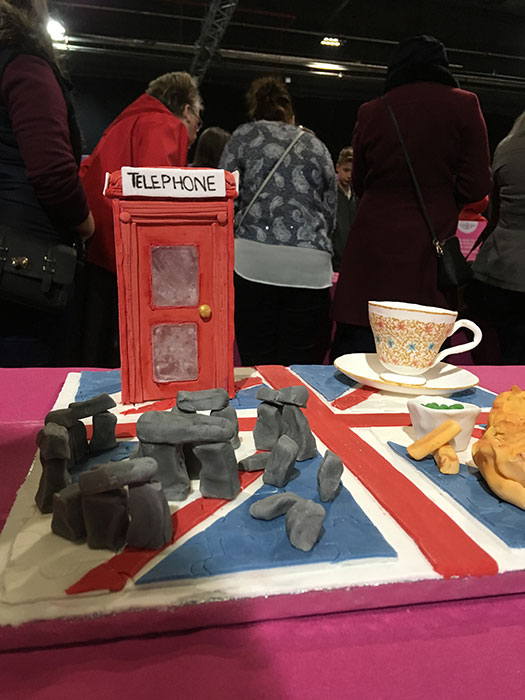 British Cake - Stonehenge, Telephone Booth, Tea, and Fish and Chips