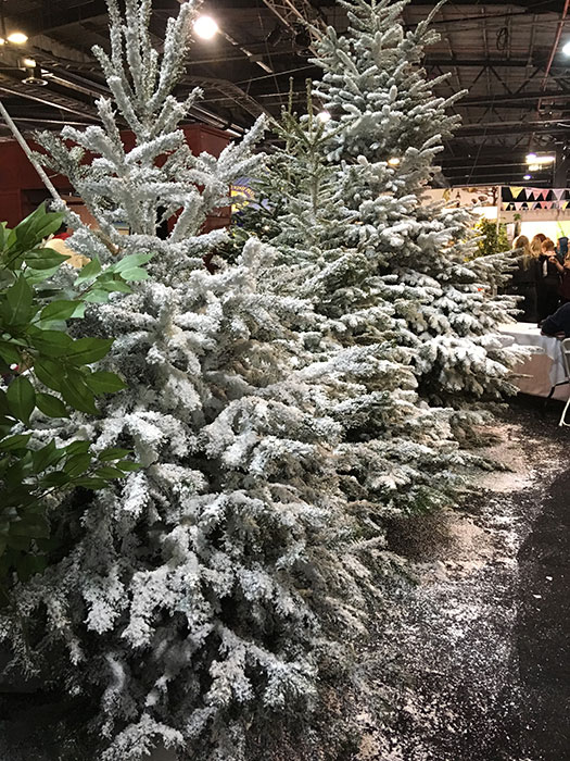Christmas trees at Cake and Bake Show