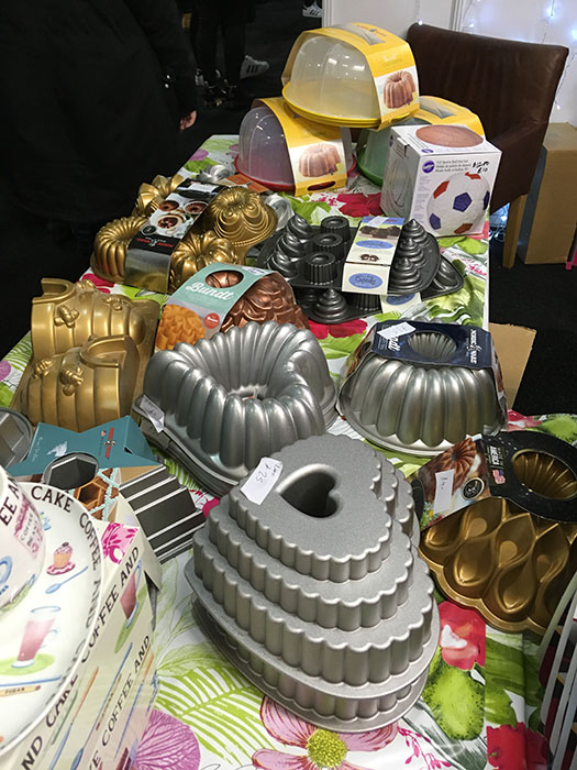 Cake tins at Cake and Bake Show