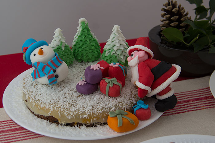 Christmas menu 2017 Christmas cake