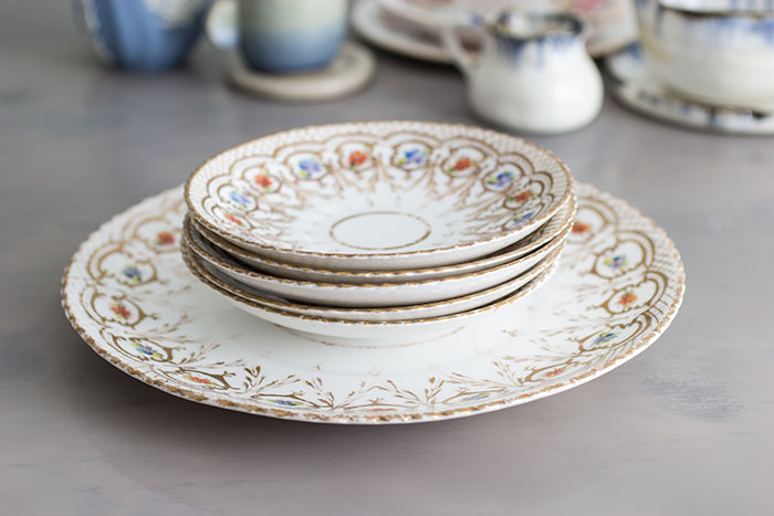 Victorian handpainted plates