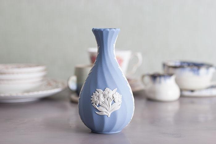 Wedgwood blue vase