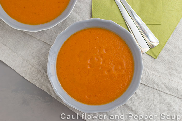 Cauliflower and Pepper Soup. Pinterest