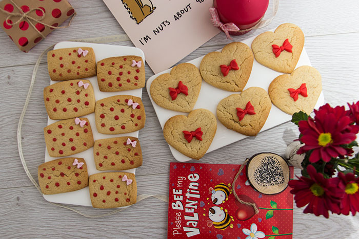 Valentine's Day Biscuits. Different view