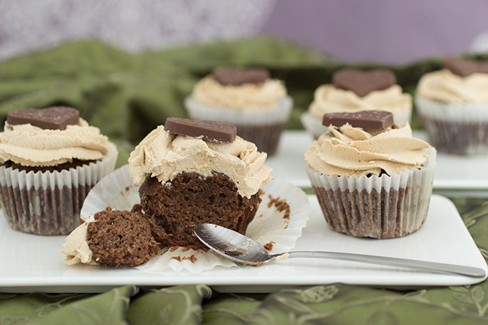 Coffee Cupcakes with spoon