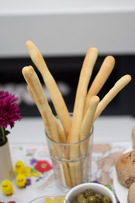 Easter menu bread sticks