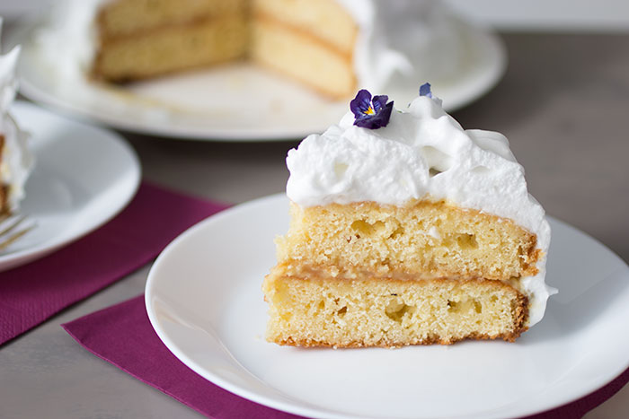 Elderflower and Lemon Cake Slice