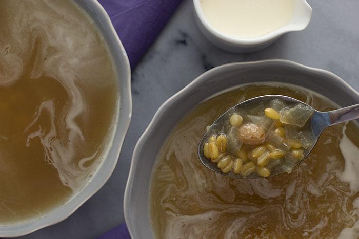 Barley Soup - in spoon