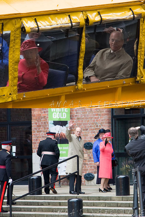 Prince Philip and the Queen on a trip to Liverpool