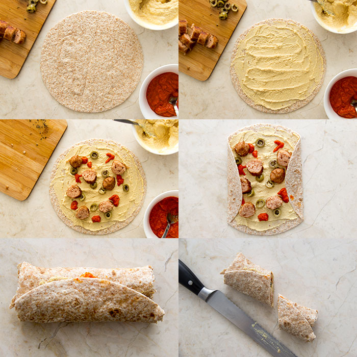 Vegan wrap. How to make it