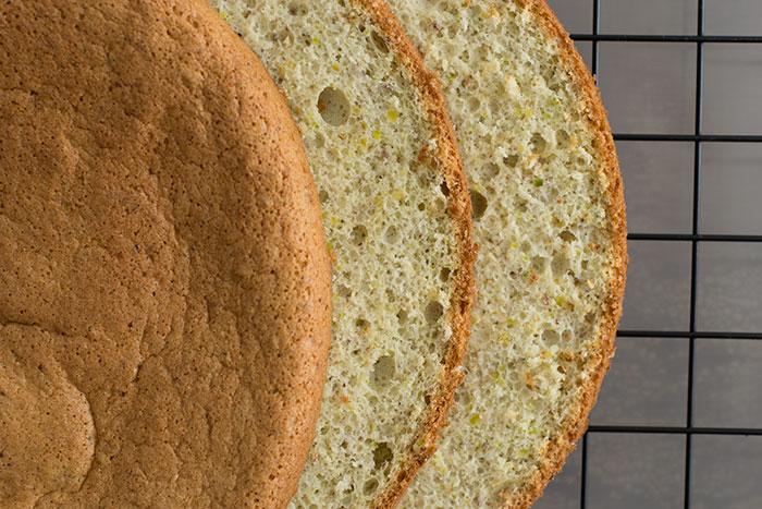 Pistachio joconde sponge