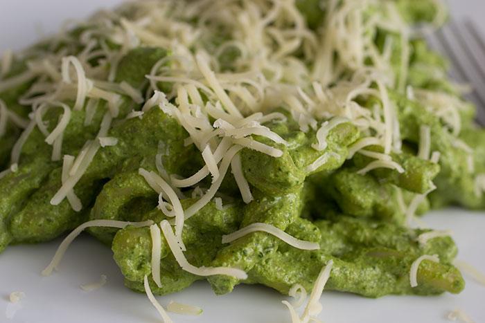 Spinach Pesto Gemelli