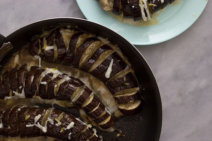 Cheesy Aubergines