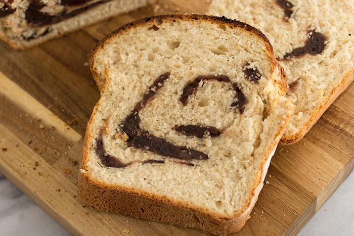 Slice of Red Bean Loaf