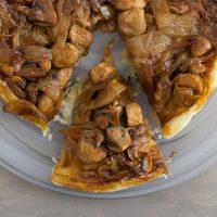 Mushrooms and Onions Tarte Tatin