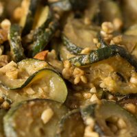 Courgette with Peanuts