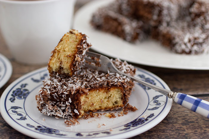 Coconut squares - how it looks inside